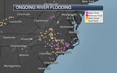 Major Flooding Continues Across The Mid-Atlantic Due To Florence