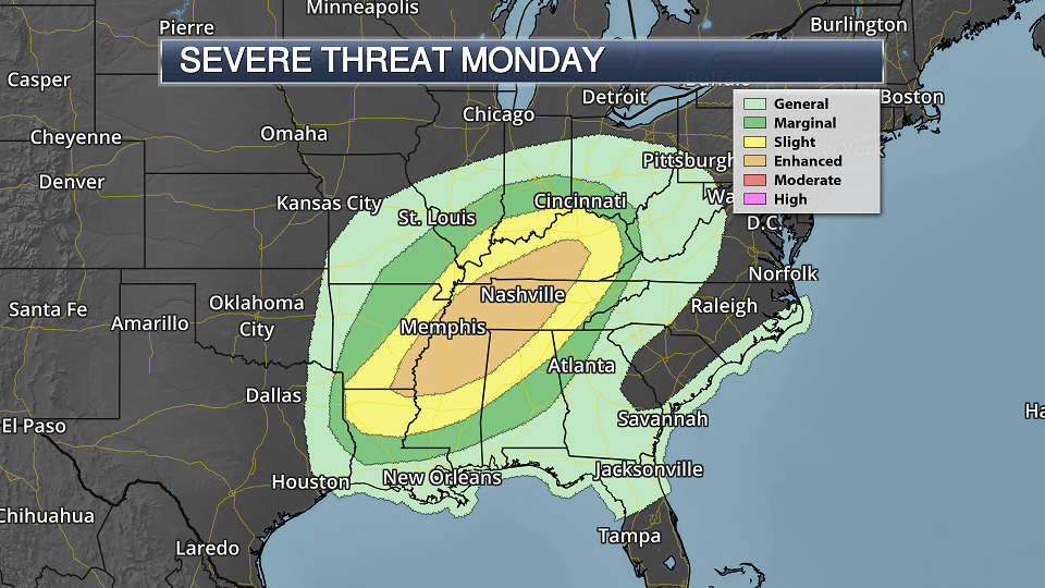 Monday And Election Day Forecast – Severe Storms Possible From The Mississippi Valley To The Ohio Valley