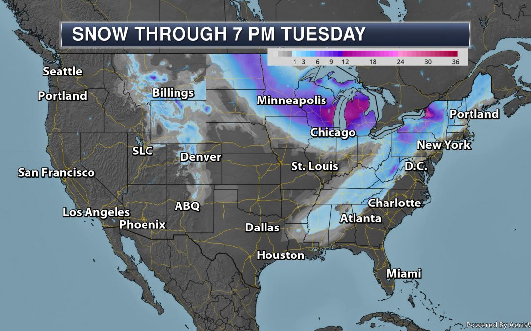 Tracking A Winter Storm And Dangerously Cold Air Through The Last Few Days Of January