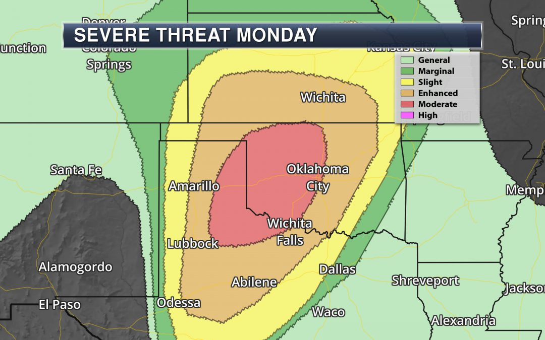 Severe Weather Outbreak Possible In The Southern U.S. Monday – Monday's National Weather Outlook For May 20th, 2019