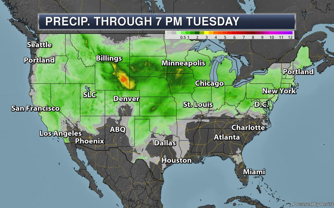 More Heavy Central U.S. Rain – Memorial Day Monday's National Weather Outlook For May 27th, 2019