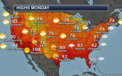 Excessive Heat Out West – Monday's National Weather Outlook For June 10th, 2019