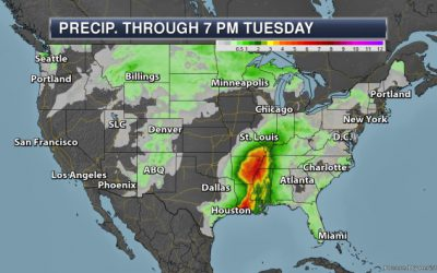 Continuing To Track Heavy Rain With Barry – Monday's National Weather Outlook For July 15th, 2019