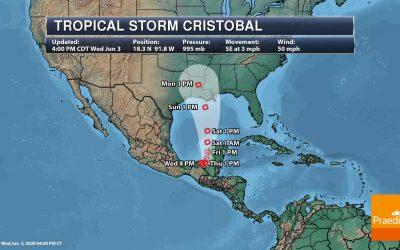 New Orleans Flood Watch – Latest On Cristobal – National Outlook For Thursday, June 4, 2020