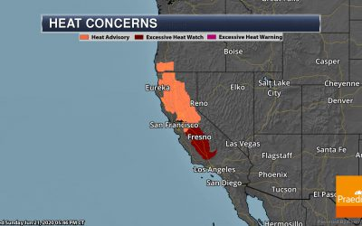 Temperatures Climb Out West This Week – Weather Outlook For Monday, June 22, 2020