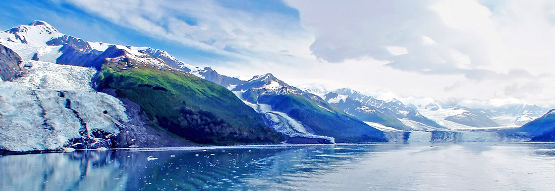 Royal Holiday - Snowed landscapes of Alaska, - appreciate them aboard the exclusivity and comfort of Princess cruises.