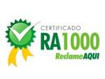 Certificado RA1000 Reclame Aqui 2019