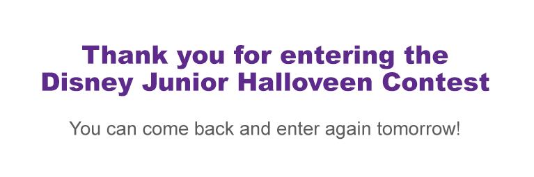 Halloveen - Enter | Disney Junior Contest