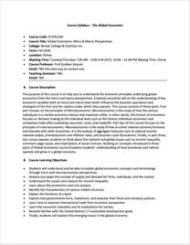 Syllabus for Introduction to Economics/Economics 1