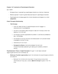chapter-18-treatments-for-psychological-disorders-lecture-notes