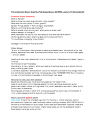 urban-sprawl-smart-growth-path-dependence-ggra03-lecture-11-potential-exam-questions
