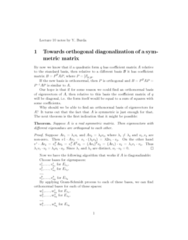 orthogonal-diagonalization-of-symetric-matrix
