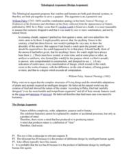 teleological-design-argument-notes