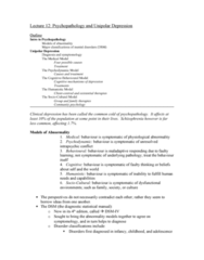 psychopathology-and-unipolar-depression-lecture-12-these-are-the-lecture-notes-for-the-very-last-lecture-very-detailed-and-thorough-total-of-7-pages-