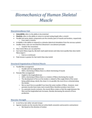 biomechanics-of-human-skeletal-muscle-lecture-notes-clear-and-concise-notes-taken-during-lecture-received-an-a-