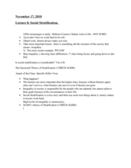 lecture-8-social-stratification