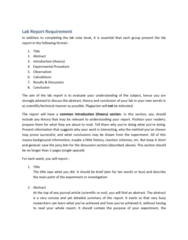 lab-report-requirement