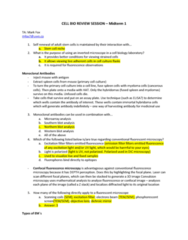 notes-from-midterm-1-review-session-hosted-by-cell-bio-ta-mark-fox-notes-include-sample-exam-questions-with-highlighted-answers-