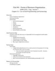 forms-of-business-organization-chapter-16-law-of-sole-proprietorship-and-partnership