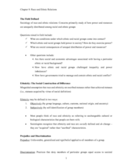 race-and-ethnic-relations-notes