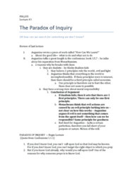 phl205-lecture-3-augustine-the-paradox-of-inquiry-docx