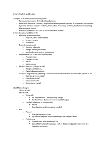 ITM 305 Lecture Notes - Extreme Programming, Sequence Diagram, Unified  Modeling Language