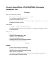 stories-in-diverse-media-ap-huma-1780b-wednesday-october-10-2012-mysticism