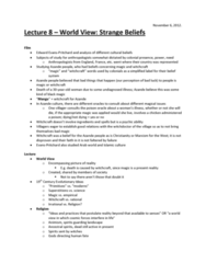 lecture-8-world-view-strange-beliefs-november-6-docx