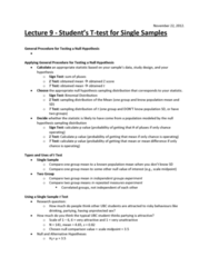 lecture-9-student-s-t-test-for-single-samples-november-22-docx