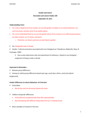 rec-100-lecture-4-gender-and-leisure-complete-notes