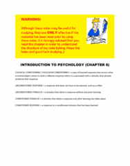 psychological-science-third-canadian-edition-chapter-six-notes-docx