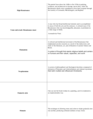 study-terms-art-history-ii