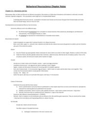 behavioral-neuroscience-chapter-notes-docx