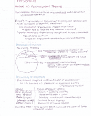 personality-psychodynamic-vs-humanistic-theories-textbook-notes-pdf