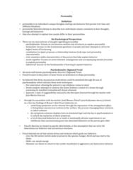 psychology-46-333-personality-notes
