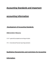 accounting-standards-and-important-accounting-information-docx
