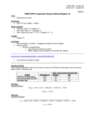fnce-2p91-corporate-finance-notes-chapter-13-docx