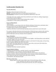 cardio-one-disorders-summary-docx