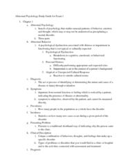 abnormal-psychology-study-guide-exam-1