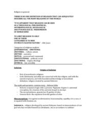 sosc-2600-huma-2800-intro-to-the-study-of-religion-exam-notes-fall-term