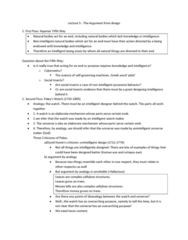 philosophy-lecture-5-the-arguement-from-design-docx