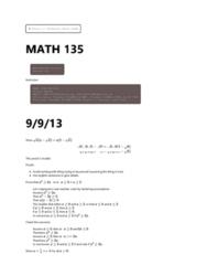math135-september-9-november-13-2013