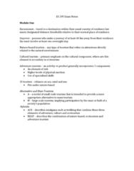 es-295-ecotourism-and-the-environment-exam-notes
