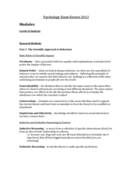 psychology-exam-review-2013-docx