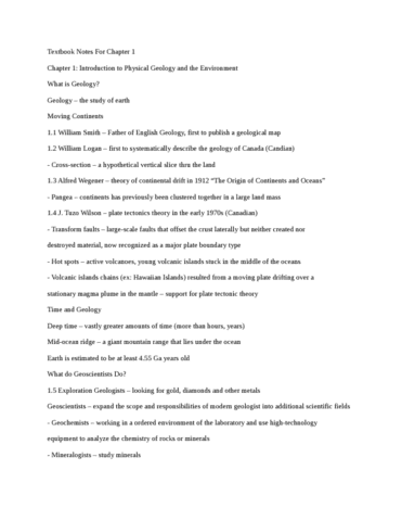textbook-notes-for-introduction-to-planet-earth-chapter-1