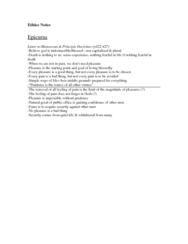 epicurus-summary