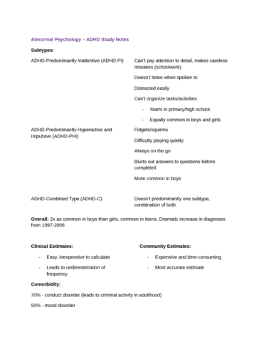 abnormal-psychology-adhd-study-notes-docx
