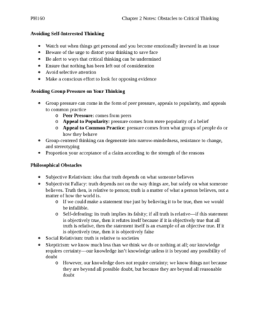 chapter-2-notes-obstacles-to-critical-thinking-docx