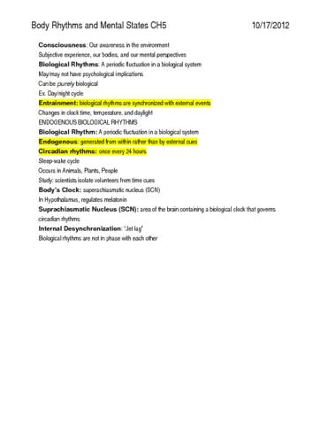 psychology-ch-5-body-rhythms-and-mental-states