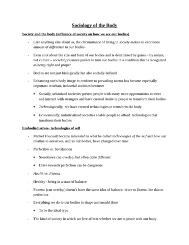 5-sociology-of-the-body-notes-docx